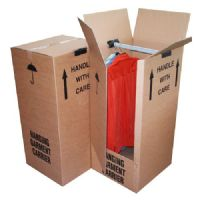 Large Strong Double Wall Garment Wardrobe Removal Boxes With Hanging Rails